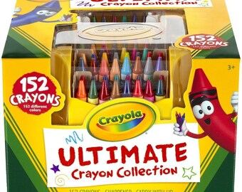 152 Crayola Crayons - Caddy & Sharpener | Kids Gift, Gift for Kids, Crayon Holder, Crayon Box, Crayon Storage, Case, Ultimate Collection