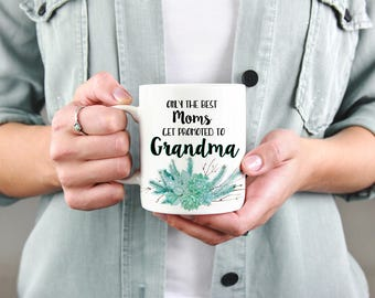 Pregnancy Announcement for Grandparents To Be Grandmother To Be Pregnancy Reveal to Grandma Only the Best Moms Gift for Mom Mug