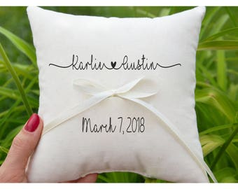 Personalized Ring bearer pillow, Wedding ring pillow , wedding pillow ,ring holder , ring bearer pillow,custom pillow , wedding pillow (R69)
