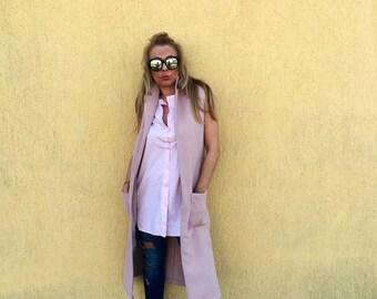 Vest /pink vest/cashmere vest/elegant vest