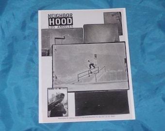 Julio De La Cruz Neighborhood Skateboards 1998  Magazine Ad Page
