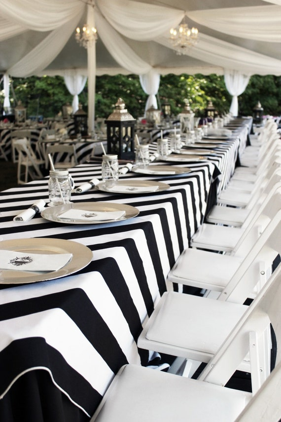 Ordinaire Black And White, Striped Tablecloth, 1 DAY FREESHIP, Kate Spade, Striped  Tablecloth, Bridal Shower, Sweet 16, Derby, BBQ Party, Quinceaneras