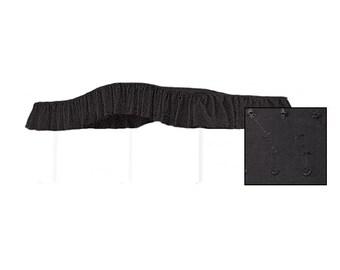 FULL SIZE Fantasy Eyelet Black Canopy Bed Fabric Top