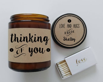 Thinking of You Gift Just Because Gift Scented Candle Gift Personalized Gift for Boyfriend Gift for Girlfriend Holiday Gift Christmas Gift