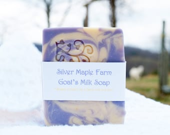 Homemade Goat's Milk Soap - Lavender Calm Soap - Artisan Soap - Gift for Her - Handmade Soap - Cold Processed Milk Soap