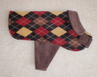 Dapper Dan  Fleece Dog Coat