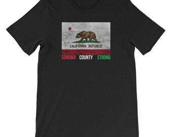 Sonoma County Strong TShirt California Flag