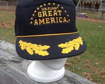 Vintage Six Flags Great America baseball hat