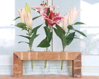 Vase, Bud Vase, Wooden Bud Vase, Centerpiece, Home Decor, kitchen decor, table decor, floral arrangement, Wedding, Bridesmaids' gift