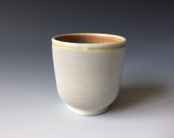 Wood fired porcelain cup