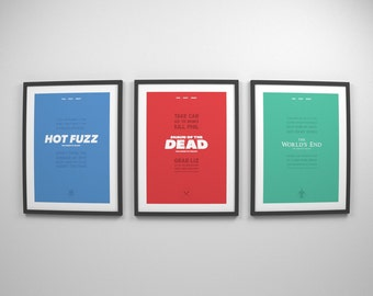 The Cornetto Trilogy ~ Movie Posters, Film Gift, Art Prints by Christopher Conner