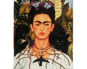 Frida Kahlo Self Portrait with Thorn Necklace  Masters Behind The Glass Clear Acrylic Display