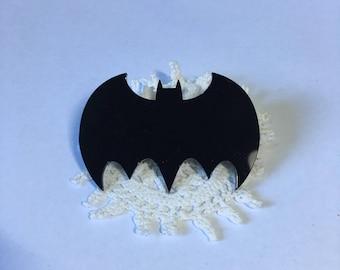 Bat Brooch- comic style
