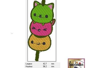 Embroidery file format: skewer Kawaii
