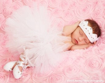 White Baby Tutu Newborn 0-6 months 6-12 months