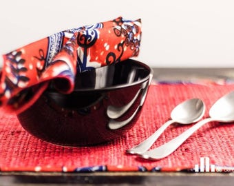 Place mats - raffia red Macaiva