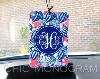 Air Freshener Car Monogrammed Auto Air Freshner Personalized Lilly Inspired Custom Designed Cute Car Accessories For Women Car Decor