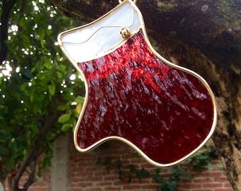 Christmas sphere / Christmas gloves / christmas suncatcher / tree suncatcher / stained glass / suncatcher / hanging decoration / suncatcher