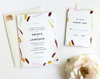 Watercolor Wedding Invitation, Wedding Invitations Modern, Wedding Invites, Boho Wedding Invitation, Wedding Invitation Suite