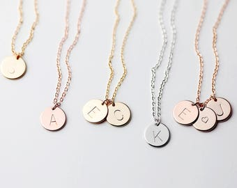 Initial Necklace Gold Personalized Necklace For Mom Gift From Daughter Personalized Mothers Day Gift mothers day gift from son - CN