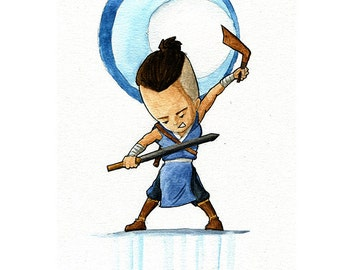 Sokka from The Last Airbender - Watercolor Print