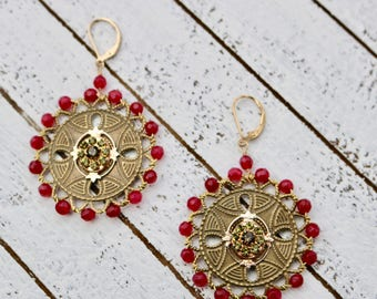 Georgia garnet earrings