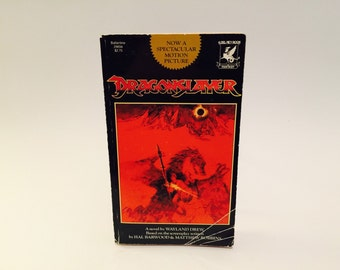 Vintage Fantasy Book Dragonslayer 1981 Film Novelization Paperback