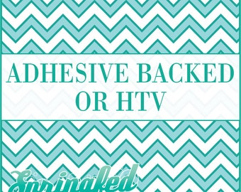 Turquoise & White Chevron Stripes Pattern #2 Adhesive or HTV Heat Transfer Vinyl for Shirts Crafts and More!