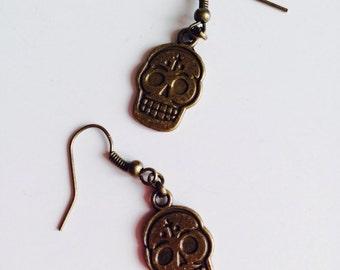 Sugar Skull   Candy Skull   Day Of The Dead   Emo   Earrings