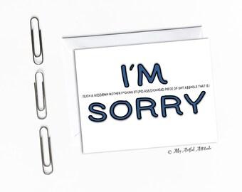 Tut mir leid Karte, ich entschuldige mich, ich durcheinander, ich sauge ich leid, Entschuldigung, Freund, Freundin, Frau, Mann