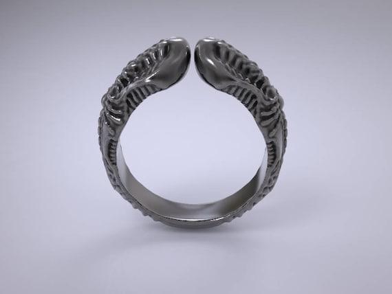 alien ring xenomorph ring Sci fi ring hr giger ring geek