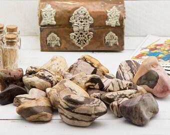 Brown Zebra Jasper Tumbled Gemstone - Stone for Spiritual Inspiration