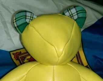 The Caper Cape Breton leather teddy bear