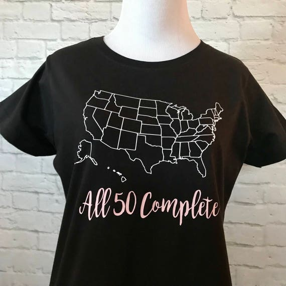 United States Map All 50 Complete Short Sleeve T-shirt