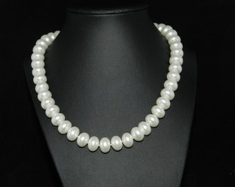 FT673 Chunky Cream Pearl Necklace  18in