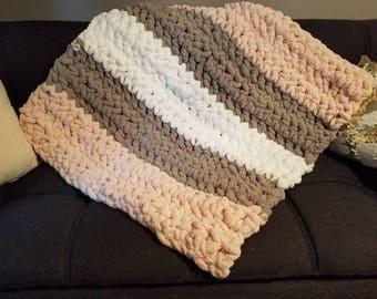 Ultra Plush Yarn Baby Girl Blanket