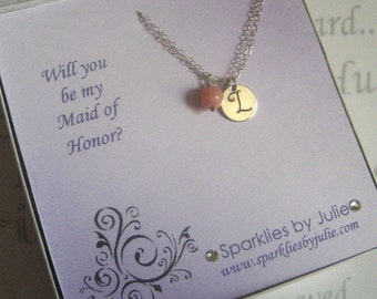 Will You Be My Maid of Honor, Fancy Bridal Invitation with Personalized Bracelet, Thank You Gift Cards, Matron of Honor, Bridesmaid, etc.
