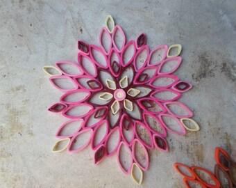 Paper wall art Pink wall hanging Mandala wall decor