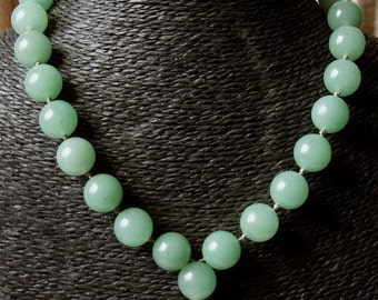"""Necklace """"Burmese ballad"""" collection """"distant Asia"""" in big round aventurine beads."""