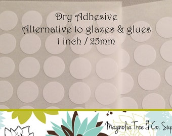 Glass Pendant Adhesive, Alternative to Glue & Glaze, Clear double sided adhesive stickers, Stickies, Easy to use 1 inch / 25mm, G004