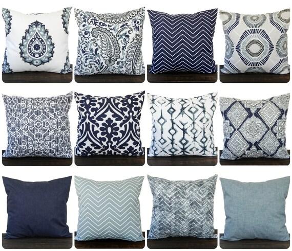 Throw Pillow Cover Cushion Decorative Pillow Vintage Indigo Adorable Navy Blue And White Decorative Pillows