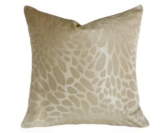Cream Throw Pillows, 18x18, Cream Pillow Cover, Designer Pillows, Neutral Pillows, Sofa Pillows, Modern Pillows, Beige, Zipper Pillow, SALE