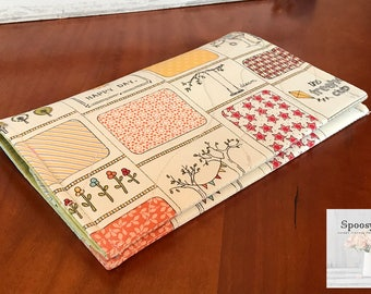 Checkbook cover coupon cash holder Treehouse Handmade Farmhouse chic