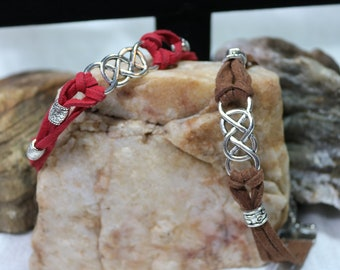 Celtic Style Infinity Bracelet with Tibetian Beads (R)