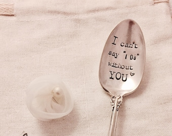 Maid of honor, bridesmade, bridal party asking gift, wedding party, will you be my maid of honor, the paper spoon