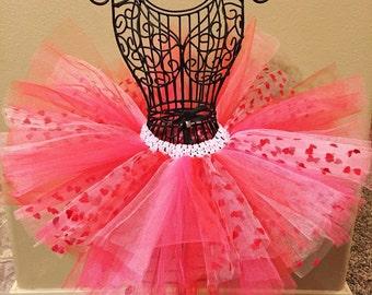 Valentine Tutu, Pink and Red Tutu, Baby Tutu, Infant Tutu, Toddler Tutu, Newborn Tutu, Pink Tutu, Red Tutu, Holiday Tutu, Heart Tutu
