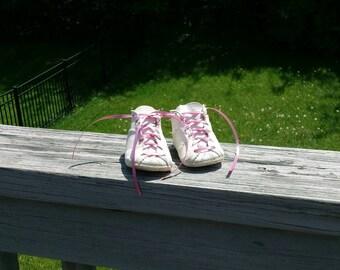Vintage newborn leather crib shoes