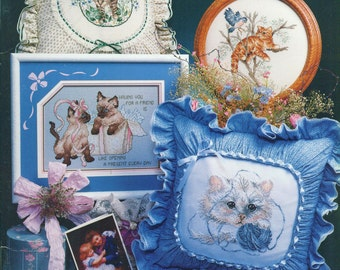 CAPTIVATING CATS Stoney Creek Book 63 Counted Cross Stitch Patterns