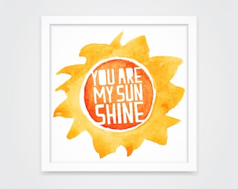 You Are My Sunshine Paper-cut Nursery Wall Art – INSTANT DOWNLOAD