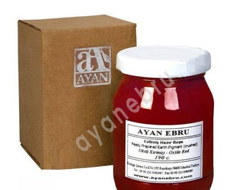 Ebru Marbling Paint Colors-Oxide Red-Ashi 190cc (Ayan)